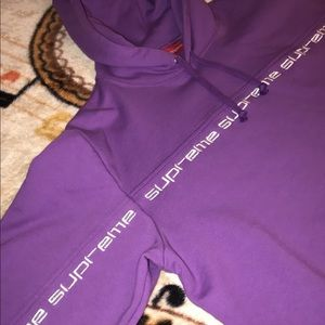 Supreme text stripe hoodie FW18